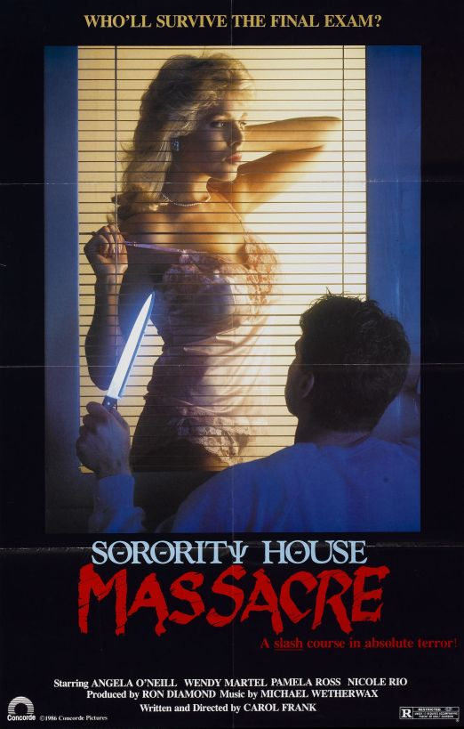 "Written and directed by a woman, does Sorority House Massacre count as a ""feminist"" film just because Carole Frank has a vagina?  Is it because she has a vagina and she has an intent?  Or is it because she has a vagina, has an intent, and audiences receive her film with her intention intact?  (And do the last two question even apply?)"
